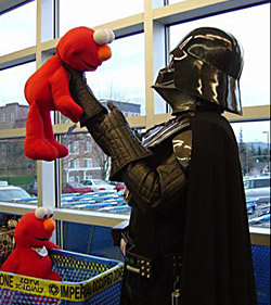 Elmo and Darth Vader