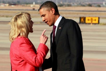 Obama and brewer