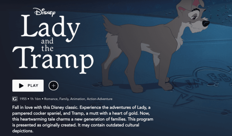 Lady and tramp warning
